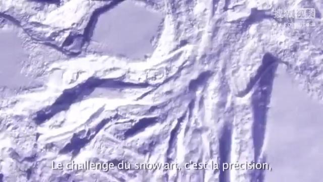 艺术家用双脚雪地上创作美景 酷似麦田怪圈