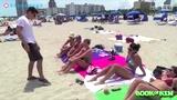 【国外恶搞整人系列】男子教你搭讪沙滩美女索要亲吻