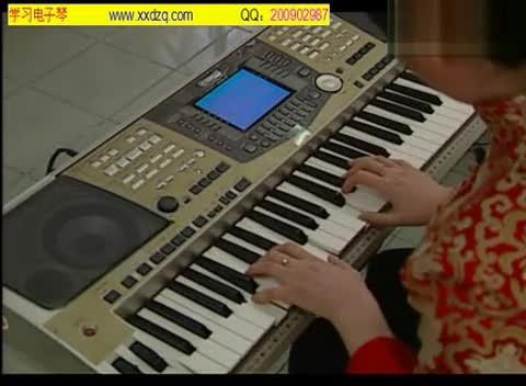电子琴入门教程 指法练习图片
