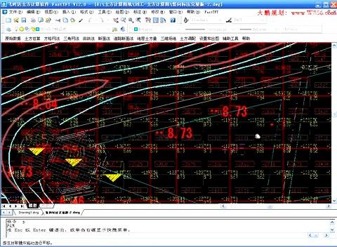 cass两期土方计算,断面法土方计算, 图上添加断面线 后出现 没有选