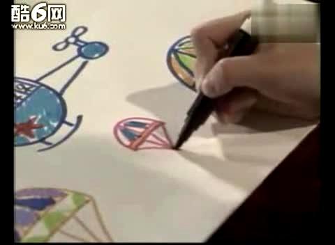 儿童学画画飞机跳伞[幼儿学画画视频教程]