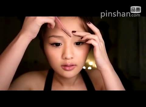 画眉毛的技巧视频