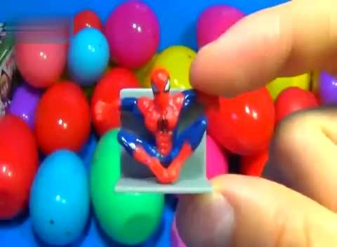 玩具彩蛋 蜘蛛侠海绵宝宝派对动物