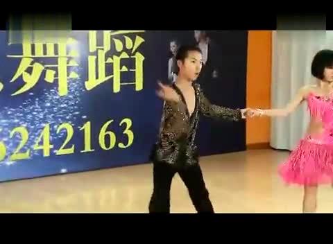 少儿拉丁舞双人表演