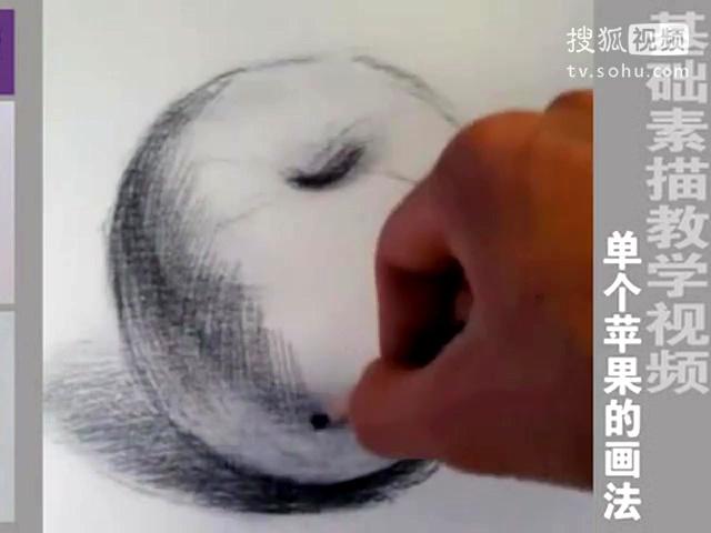 华艺画室-基础素描苹果画法标清