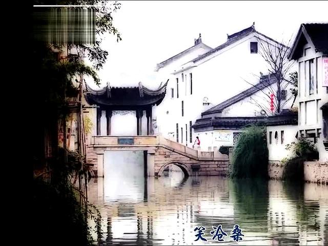 古风山水墙绘图片