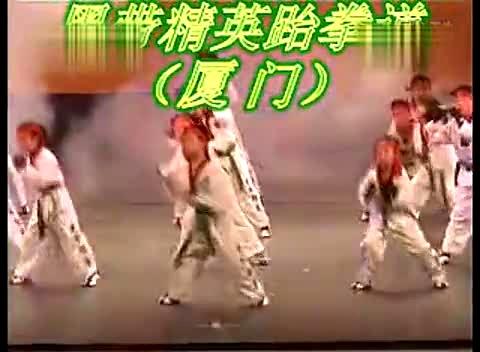 少儿跆拳道表演 视频