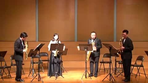 萨克斯四重奏:蓝狂,一个美国人在巴黎---集美大学音乐学院韩伟师生