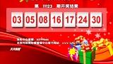 """北京市电脑体育彩票""""33选7""""第11123期开奖结果 [天天体育]"""