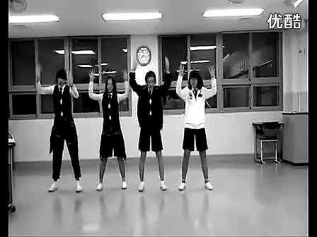 舞蹈开场热舞good- bye baby的爵士舞(清晰) 韩国中学女生 舞蹈miss a