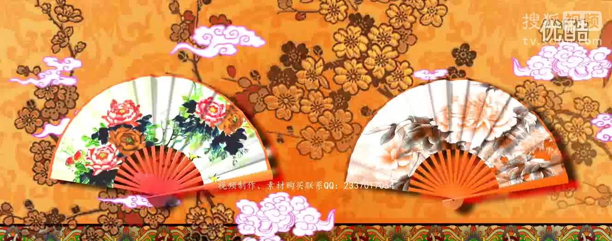 手绘中国风戏曲背景