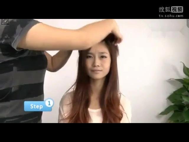 简单盘发发型步骤怎样盘头发好看丸子头扎法教程